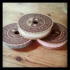 Lace Ribbon in choice of Pink, Cream or Grey 5 metres on the reel 100% cotton