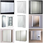 Modern Bathroom Cabinet Wall Mounted Soft Close Door Non-Illuminated Mirror