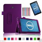 "Folio Leather Case Cover+Pen For 7"" Dell Venue 7 3730 Android Tablet DZWY"