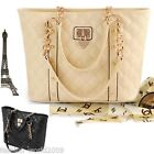 Ladies Womens Girls Shoulder Bag Handbag Luxury Totes Purse Chain Heart Leather