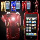 iPhone 4/4s/5/5s 3D Hero Avengers LED Armor Iron Man Mark VII Toy Case Cover HOT