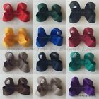 "Baby/Girls Handmade 2"", 3"" Darling Hair Bow Clips Bobbles SCHOOL COLOURS"