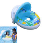 Baby toddler swimming Inflatable boat float car seat pool shade cover sun canopy