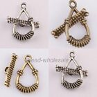New 5Sets Tibetan silver Water-drop Clasp Hook Connector Findings