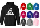 Womens Fall Out Boy Logo Rock Music Pullover Hoodie NEW UK 12-20