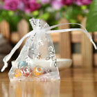 New 100pcs/lot Christmas Snowflake Organza Candy Bag Gift Pouches Jewelry Bags