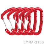 Ultraligjt 5 x 24KN Wire Gate Carabiner for Ice Climbing Quickdraws by CE UIAA