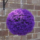 ARTIFICIAL VIOLET HEATHER BALLS TOPIARY GARDEN HANGING FAKE WEDDING DECORATION