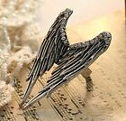 FD362 Vintage Retro Punk Gothic Wings Princess Queen Ring Women Girl Ring ~1pc~/