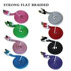 BRAIDED USB LEAD SYNC CHARGE DATA CABLE CHARGER 4 IPHONE 5 5S 5C IPAD 4 AIR MINI
