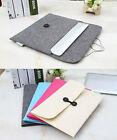 "11""13""15"" Envelope Laptop Sleeve Case Bag Woolen Felt For Apple Macbook Pro Air"