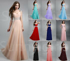 Long Chiffon Evening Formal Party Ball Gown Prom Bridesmaid Dress6 8 10 12 14 16