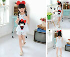 HOT!New Fashion Kids Cute Jeans Suit Girls Lovely Korean Summer Suit Age 2-7T