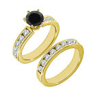 1.50 Carat Black AAA Diamond Engagement Wedding Solitaire Ring 14K Yellow Gold