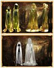Kids Adults Vampires Witch Wizard Golden Silver Cloak Costume Halloween Cosplay