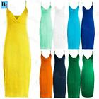 Womens Ladies Celebrity Summer Casual Strappy Wrap Cross Over Bodycon Midi Dress