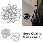 20 Metal Silver D Rings for Craft & Webbing 15mm, 20mm, 25mm, 30mm, 38mm - UK