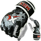 MRX MMA Gloves Boxing Cage Grappling Glove Mix Martial arts UFC Fight Gear, bgw