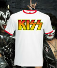 Kiss Band Logo Retro T Shirt Tee Music Rock Indie Brit Pop Punk All Sizes New
