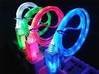 2In1 LED Color USB Data Sync Cable + US AC Wall Charger For iPhone 5S 5C 5G iOS7