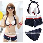 3Pcs Sexy Women's Bikini Push-up Padded Halter Swimsuit Bathing Bikini Shorts