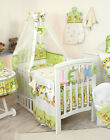 Green Baby Boy - Girl 4 PC - bumper/ sheet /pillow cases/quilt cover+or 3 pc set