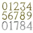 "Solid Brass Chrome 3"" House Numbers with Screws DOOR NUMBER POLISHED NUMERALS"