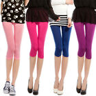 NEW Women Tight Pants Stretch Leggings Pencil Pants Basic Candy Color Shorts c