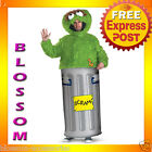 C576 Sesame Street Oscar the Grouch Fancy Dress Party Halloween Adult Costume