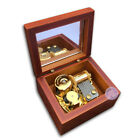 Wooden Box Wind up Sankyo Music Boxes With More Than 30 Melodies Choice (Brown)