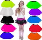 NEON TUTU SKIRT  80'S FANCY DRESS GIRLS