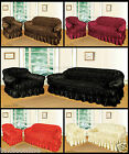 Jacquard Arm Chair 2 & 3 Seat Sofa Covers Throw Chocolate Wine & Black Colours