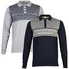 NEW MENS GABICCI VINTAGE LONG SLEEVE PATTERNED THIN KNITTED JUMPER SIZE S-XXL