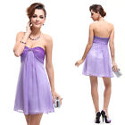 Ever Pretty Rhinestones Purple Short Cocktail Party Dress 03526 6 8 10 12 14 16