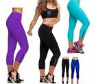 Trendy Colors CAPRI Fitness Training Yoga Cropped Pants Women Legging Trouser CB