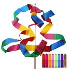 New 4M Dance Ribbon Rhythmic Art Gymnastic Ballet Streamer Twirling Rod Stick