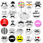 MOUSTACHE Badge s 25mm / 1 inch 38mm 59mm November Supporting Movember Mustache