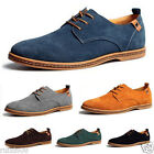 New Men's Retro Genuine Suede Lace Up Loafers Brogue Elite Business Shoes