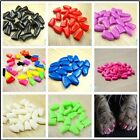 20PCS Pet Dog Cat Soft PVC Nail Caps Claw Control Paws Off Adhesive Glue color