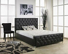 TOP QUALITY CHESTERFIELD UPHOLSTERED LEATHER BED FRAME IN 3ft,4ft,4ft6,5ft,6ft