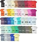 American Unisex Size XS-L XL XXL Crew Neck Apparel 50/50 Poly Cotton T-Shirt Tee