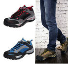 Hot Men's Leather Lace Up Rubber Sole Outdoor Comfortable Hiking Climbing Shoes