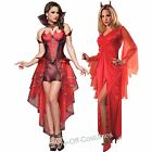 DEVIL HALLOWEEN HORROR LADIES FANCY DRESS COSTUME SIZES 6-14