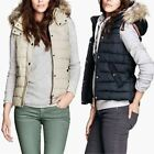 HOT Women's Hooded BodyWarmer Ladies Jacket Padded Vest Waistcoat Down Coat