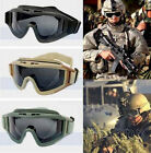 New CS Airsoft Tactical SWAT Goggle Glasses Eye Protection Mask 3 Lens 3 Colors