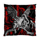 Alice In Wonderland Grunge Jabberwocky (Red Version) Two Sided Cushion Cover