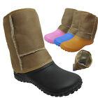 New Kids Girls Winter Boots Sandals Mules Clogs  Calf Fur Lined Slippers Unisex