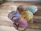 12 FILIGREE CUPCAKE WRAPPERS IN 15 COLOURS WEDDINGS PARTIES CHRISTENINGS VINTAGE