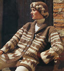 KNITTING PATTERNS LADIES SWEATERS COATS JACKETS CARDIGANS HAT SCARVES GLOVES V12