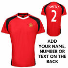 Official Manchester United Man United Performance T Shirt - ADD YOUR OWN TEXT